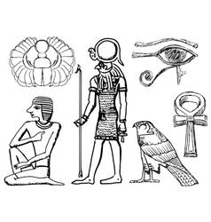Ancient Egyptian symbols vector