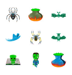 Assembly flat shading style icon halloween cute vector
