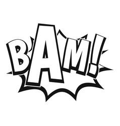 Bam comic book bubble icon simple style vector