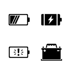 batteries simple related icons vector image