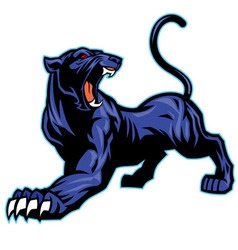 Black panther mascot vector