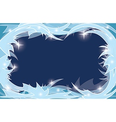 blue transparent background with frosty frame vector image
