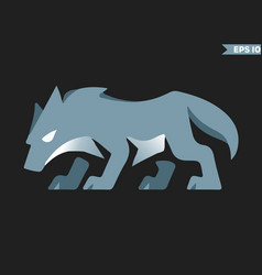 Blue wolf logo vector