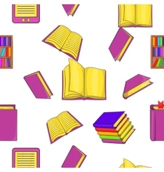 Book pattern cartoon style vector image