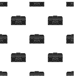 Boombox icon in black style isolated on white vector