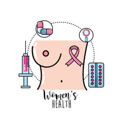 Breast cancer with medical treatment to care the vector