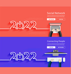 Business technology creative 2022 new year start vector