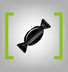 candy sign black scribble vector image