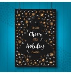 Christmas Holiday Cheer card Xmas poster vector image