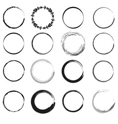 Circle elements image vector
