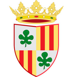 Coat of arms of figueres of spain vector