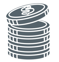 Coins stack money and cash isolated icon banking vector