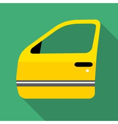 Colorful car door icon in modern flat style with vector image