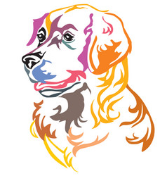 colorful decorative portrait of dog golden vector image