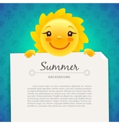 Colorful Summer Background with Copy Space vector