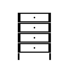 Contour cabinet archive file document with drawer vector