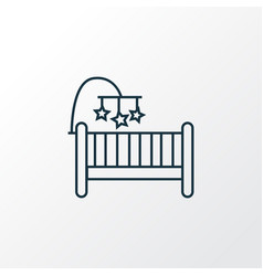 crib icon line symbol premium quality isolated vector image