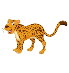 Cute cheetah cartoon posing vector