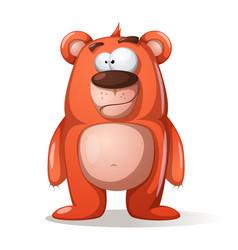 Cute funny bear characters vector