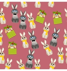 cute rabbit with scarf vector image