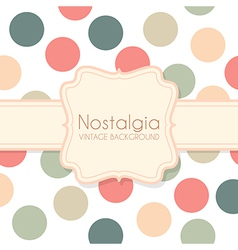 Cute Vintage Background with Frame vector