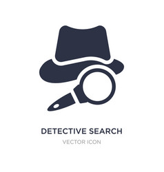 detective search icon on white background simple vector image