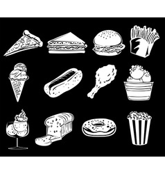 Different foods vector image