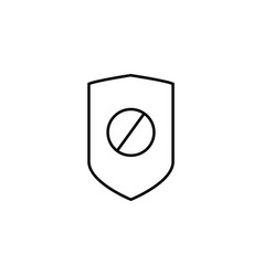 Disabled security icon vector