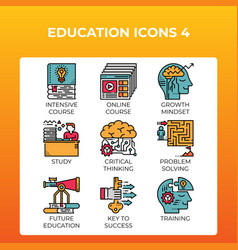 Education concept icons vector