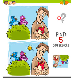 Find differences game for children vector