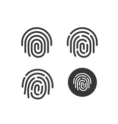 Fingerprint icons set round shaped vector