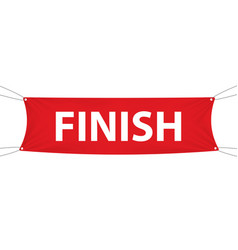 finish red textile banner template vector image