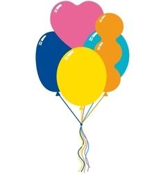 Five color balloons vector