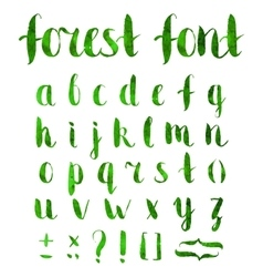 Hand drawn regular bold grunge font vector