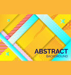 hipster geometric abstract background yellow blue vector image