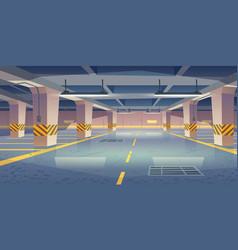 Interior empty underground car parking vector