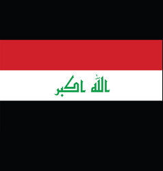 iraq flag for independence day and infographic vector image