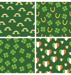 Irish patterns vector