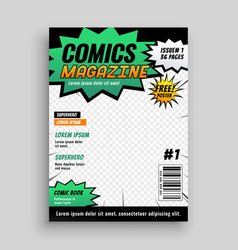 layout design of comic book cover vector image
