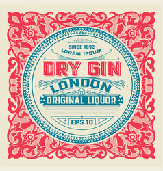 liquor label for packing vector image