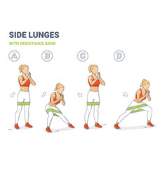 lying leg lifting with resistance band exercise vector image