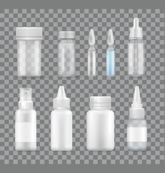 Medicament isolated transparent remedies vector