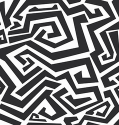 Monochrome curved lines seamless texture vector