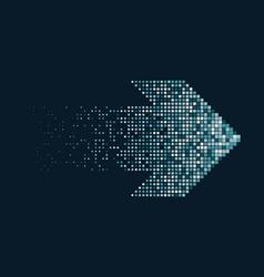 Pixel arrow icon vector