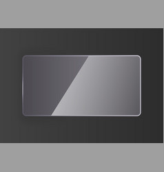 Reflecting glass banner vector