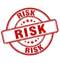 Risk red grunge round vintage rubber stamp vector