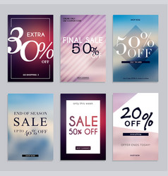 sale website banners web template collection can vector image