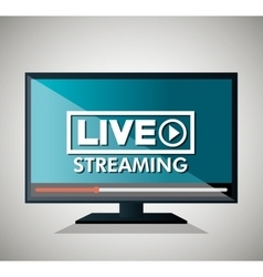 Screen with live streaming icon vector