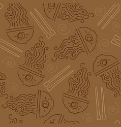 seamless pattern ramen vector image