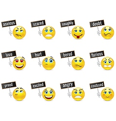 Smiles emotions vector